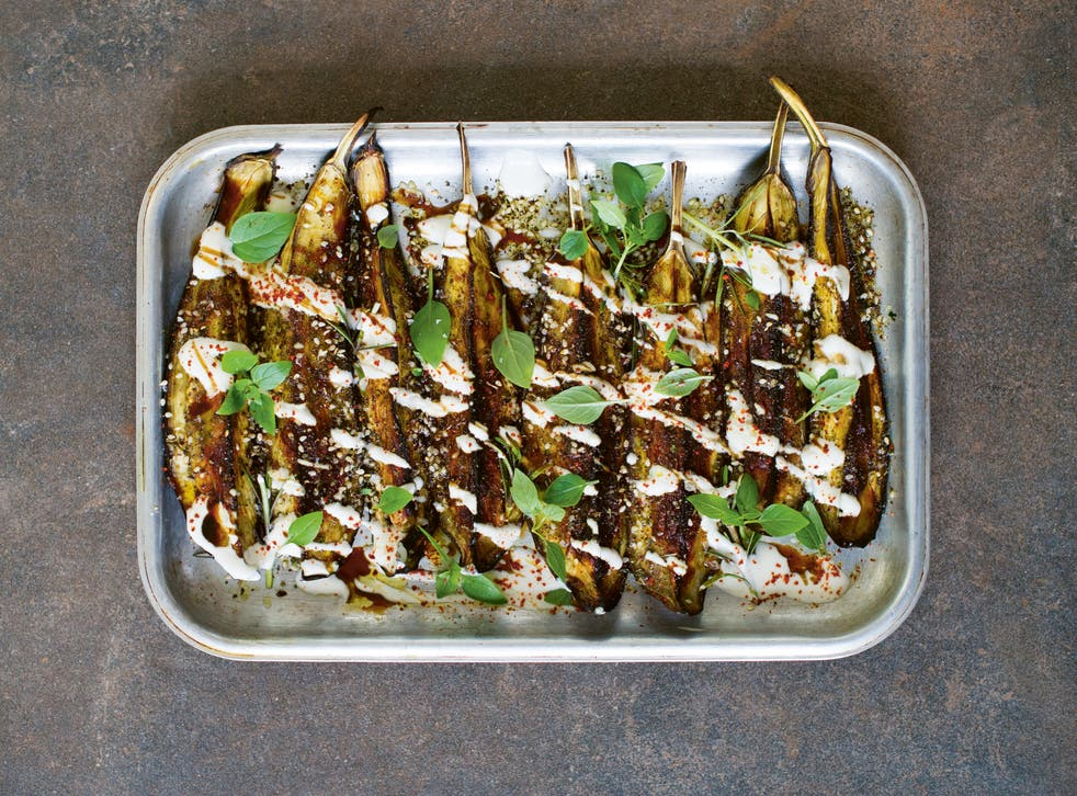 <p>Diacono's favourite way with aubergines, and one that shows how they take beautifully to so many herbs</p>