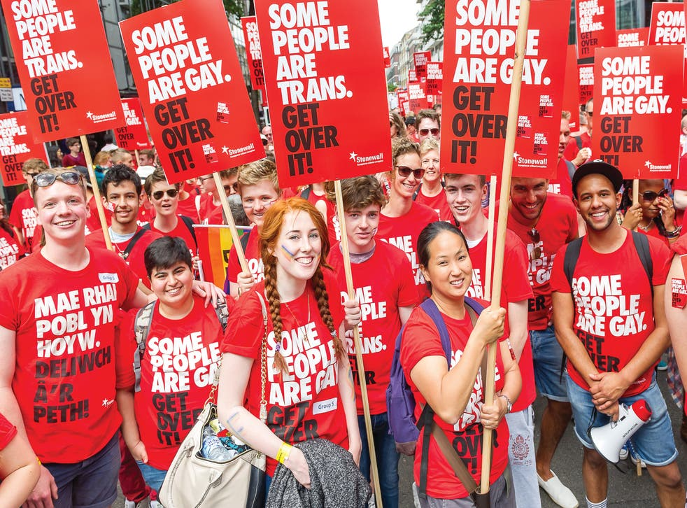 <p>LGBT+ rights protesters in London</p>