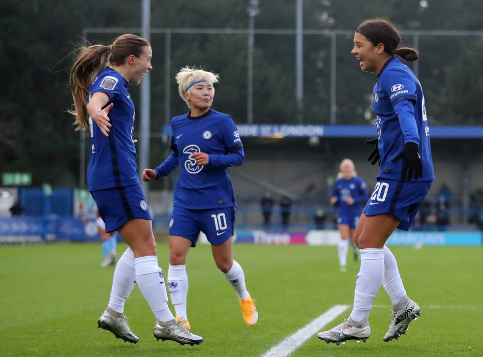 <p>Sam Kerr has formed an effective partnership with Fran Kirby this season</p>