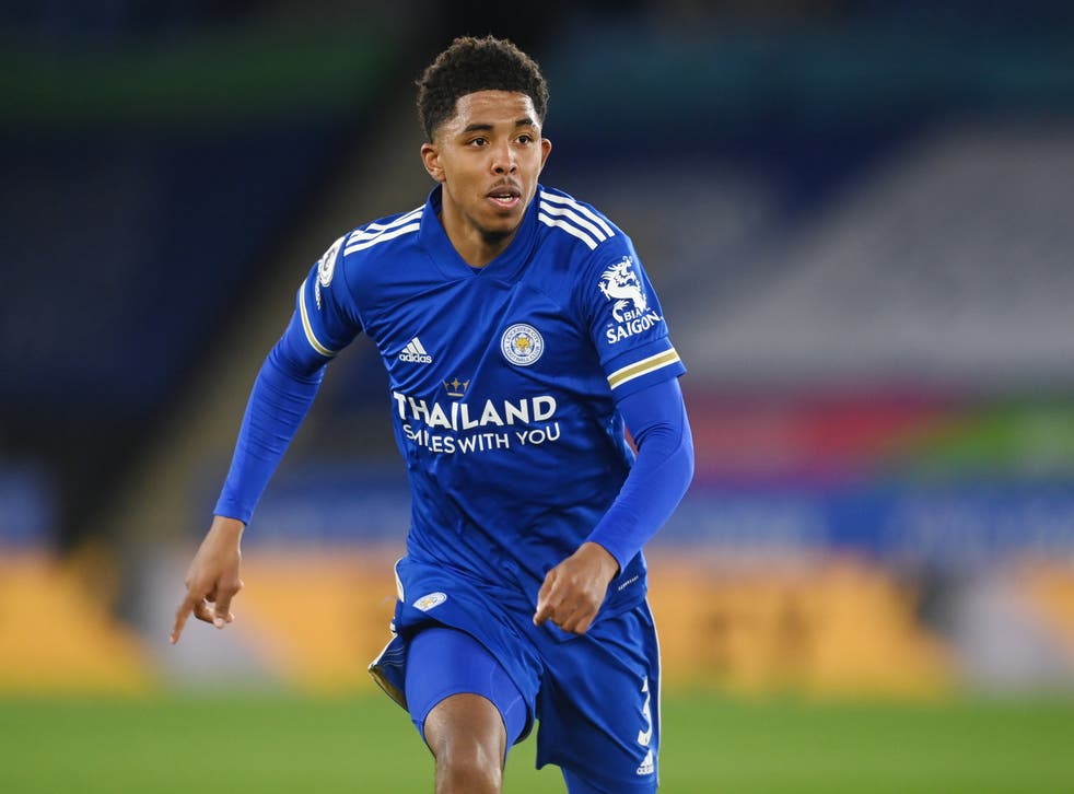 Wesley Fofana of Leicester in action against West Brom