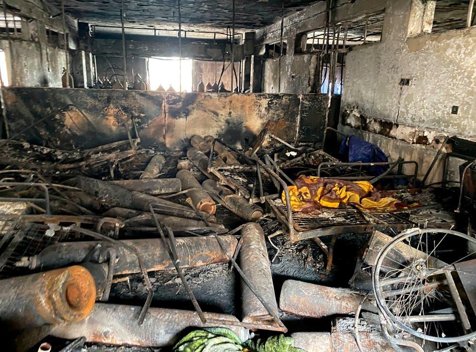 APTOPIX Iraq Hospital Fire