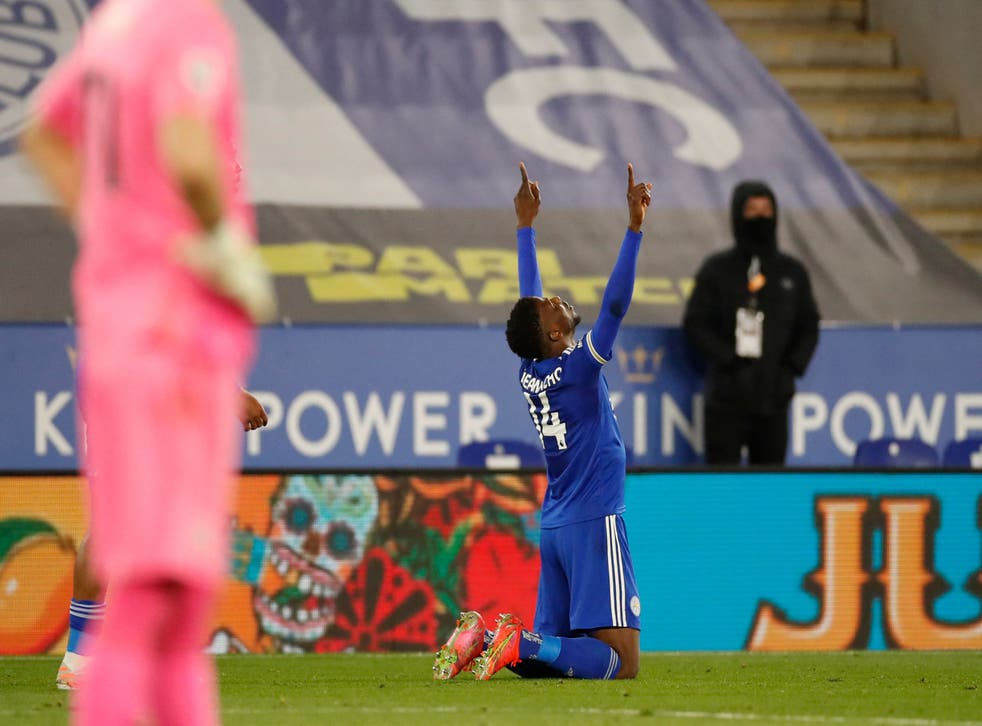 <p>Kelechi Iheanacho's latest strike earned Leicester a 2-1 win over Crystal Palace</p>