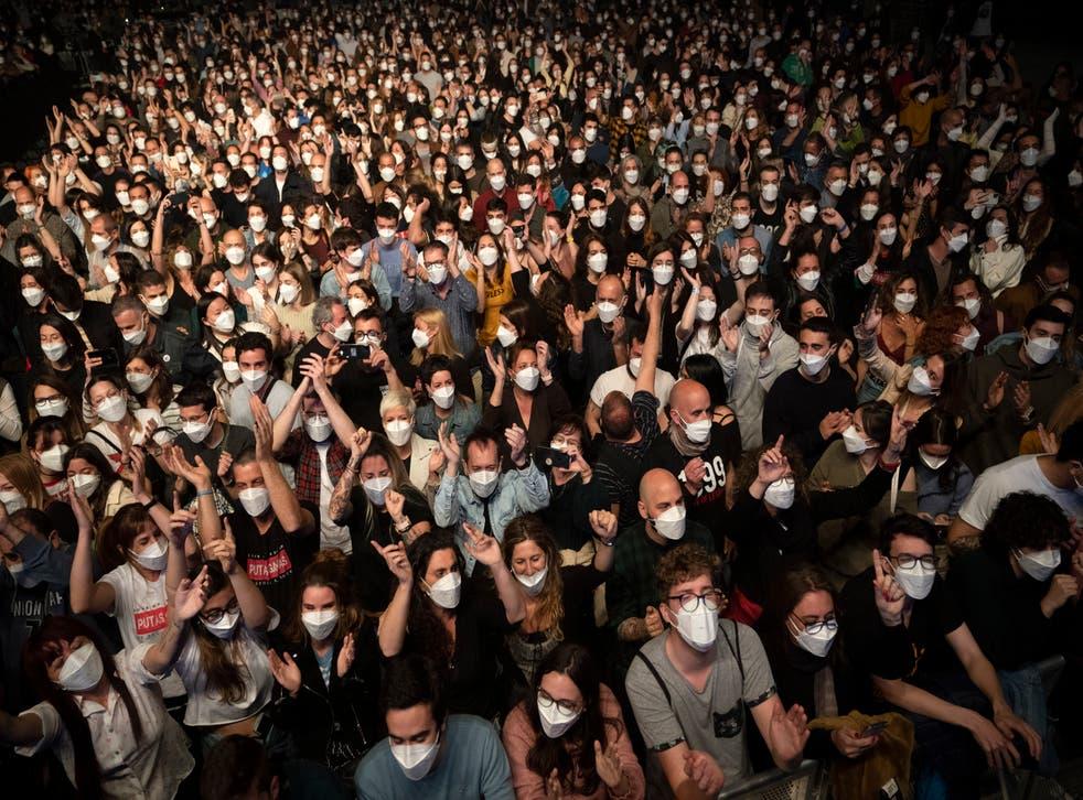 Virus Outbreak Spain Concert