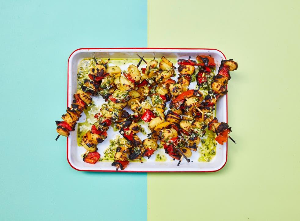<p>Crispy gnocchi on a stick – Iyer's favourite barbecue creation</p>