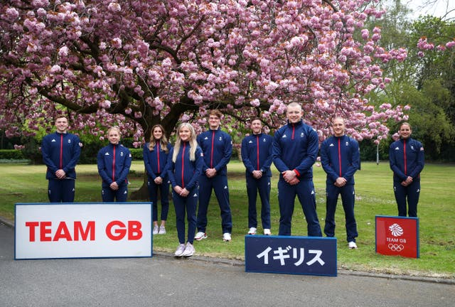 <p>Members of the Team GB swimming squad were present for the socially-distanced announcement on Tuesday</p>