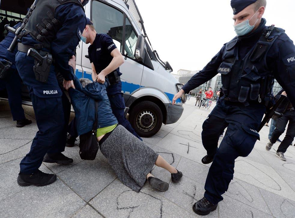 Poland Protester