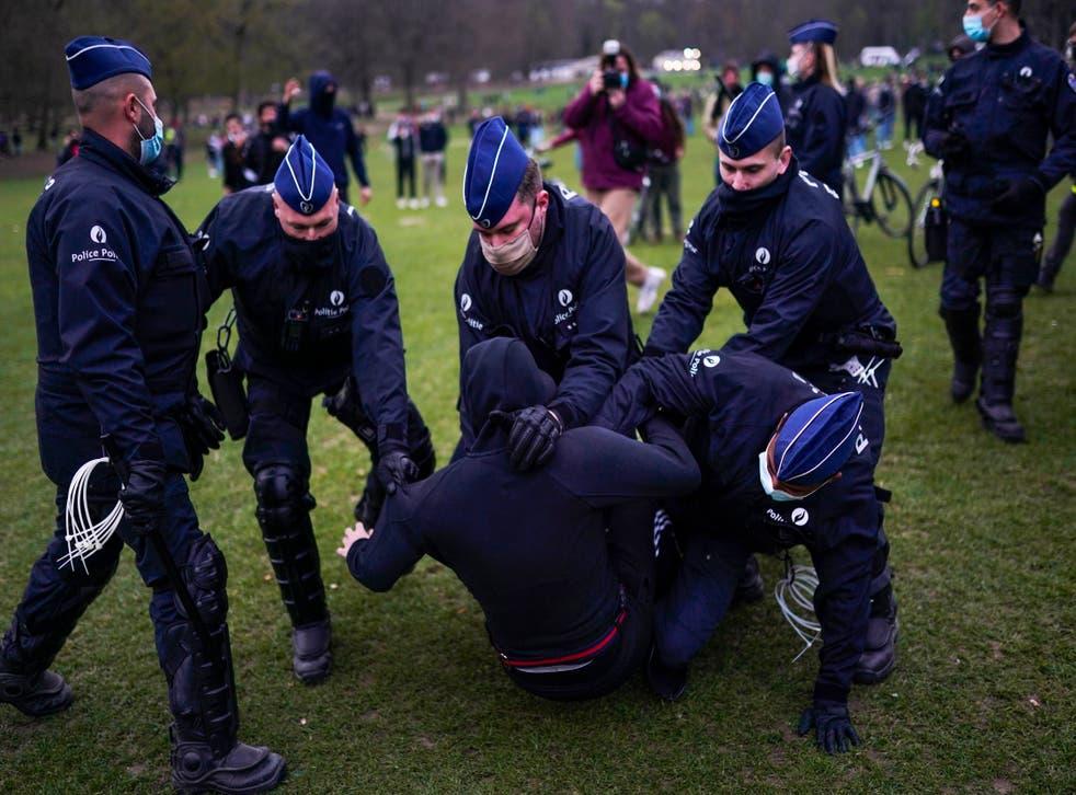 Virus Outbreak Belgium Lockdown Party