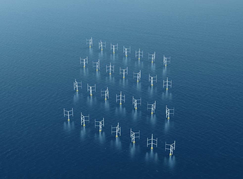 Farm of Vertical Axis Wind Turbines