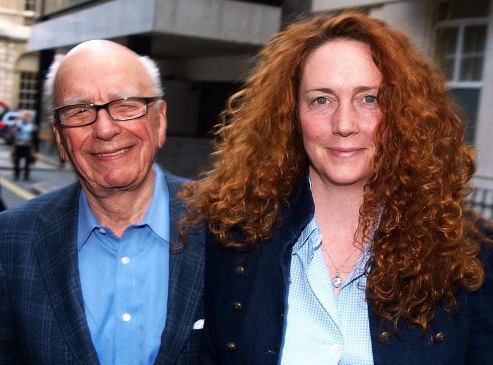 News UK CEO Rebekah Brooks and Rupert Murdoch are pictured together in London in 2011