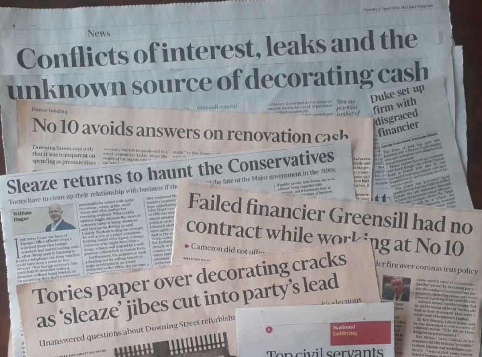 Russia's UK embassy tweets image of lobbying sleaze headlines