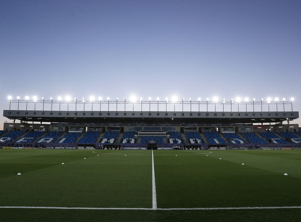 Real Madrid's Estadio Alfredo Di Stefano training pitch