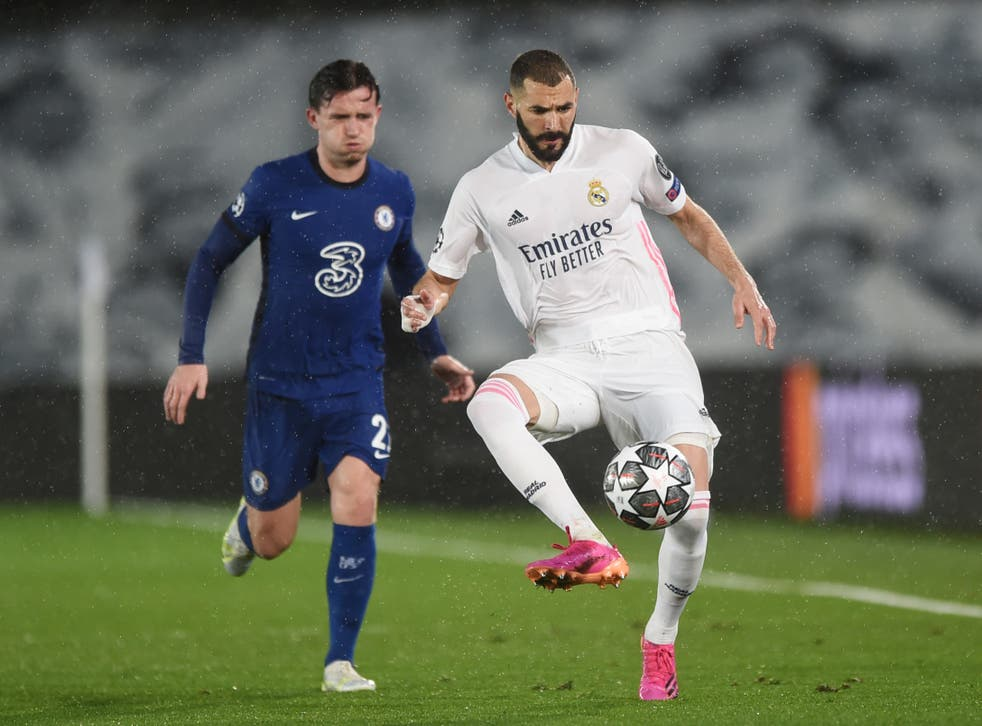 Karim Benzema (right) scored the equaliser for Real Madrid