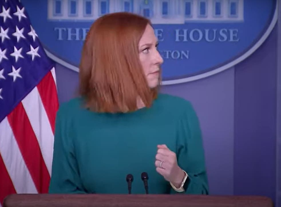 White House press secretary Jen Psaki is interrupted by 'Abraham Lincoln's ghost'
