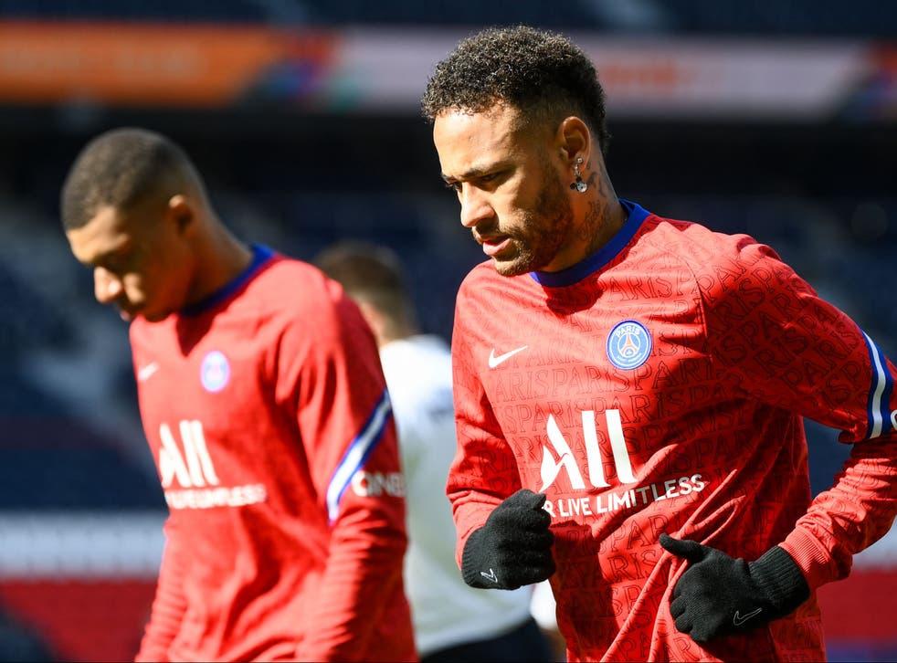 PSG forwards Neymar and Kylian Mbappe