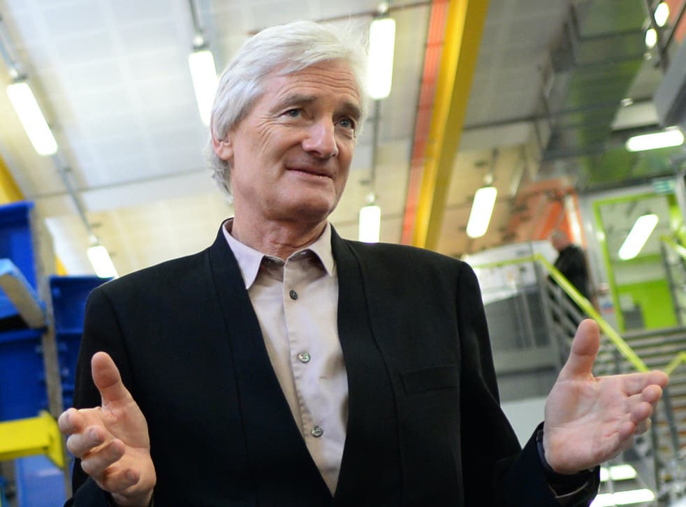 Entrepreneur Sir James Dyson pictured on 23 March, 2015.