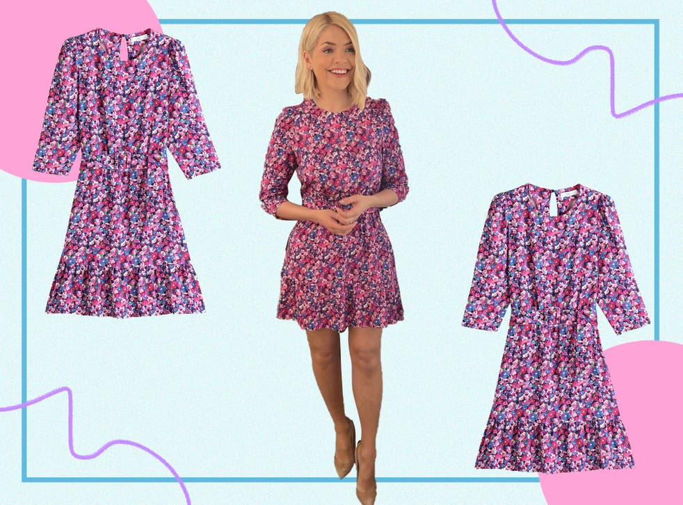 <p>Holly's outfit is brightening up a rather dreary Wednesday and we're here for it</p>