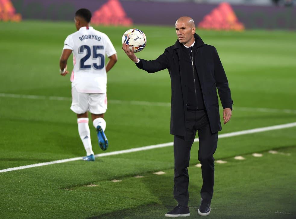 Real Madrid head coach Zinedine Zidane