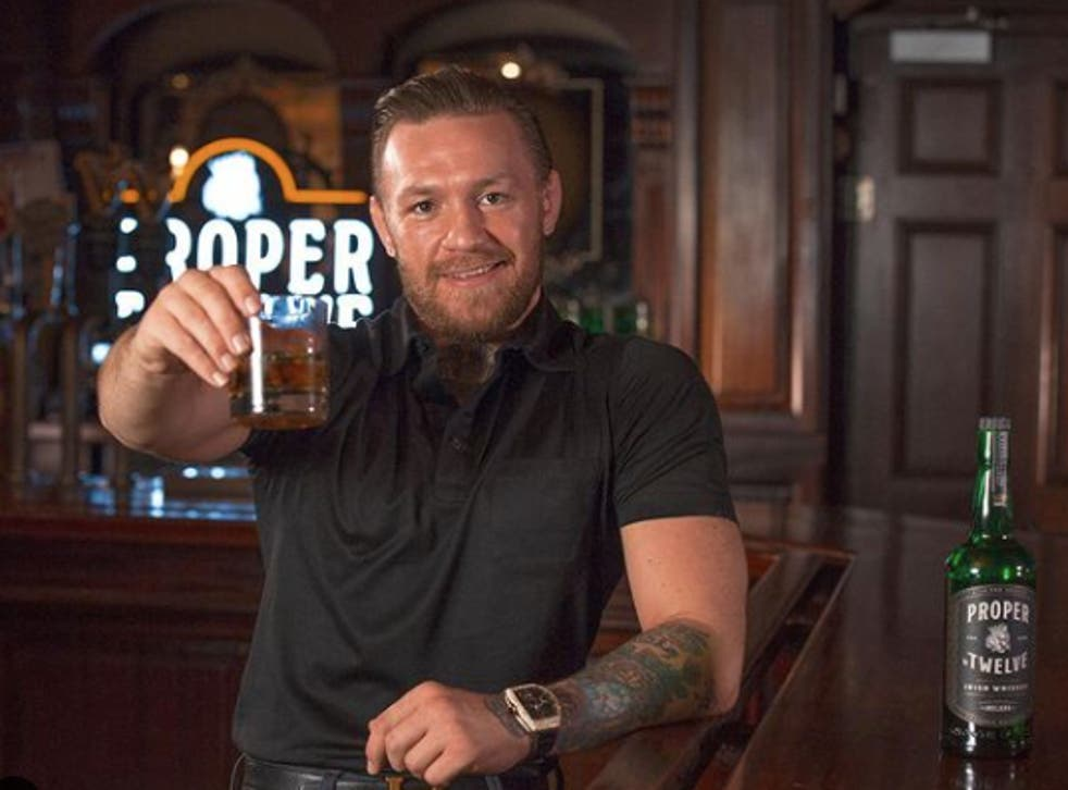 Conor McGregor with his whiskey brand Proper No Twelve