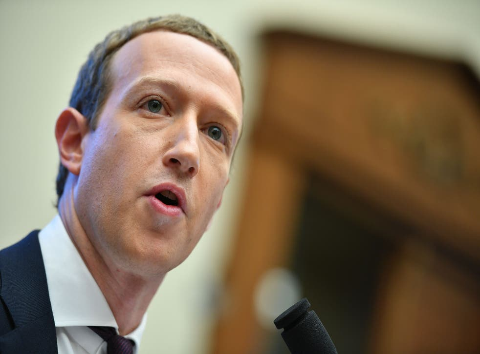 """<p>Facebook Chairman and CEO Mark Zuckerberg testifies before the House Financial Services Committee on """"An Examination of Facebook and Its Impact on the Financial Services and Housing Sectors"""" in the Rayburn House Office Building in Washington, DC on October 23, 2019. </p>"""