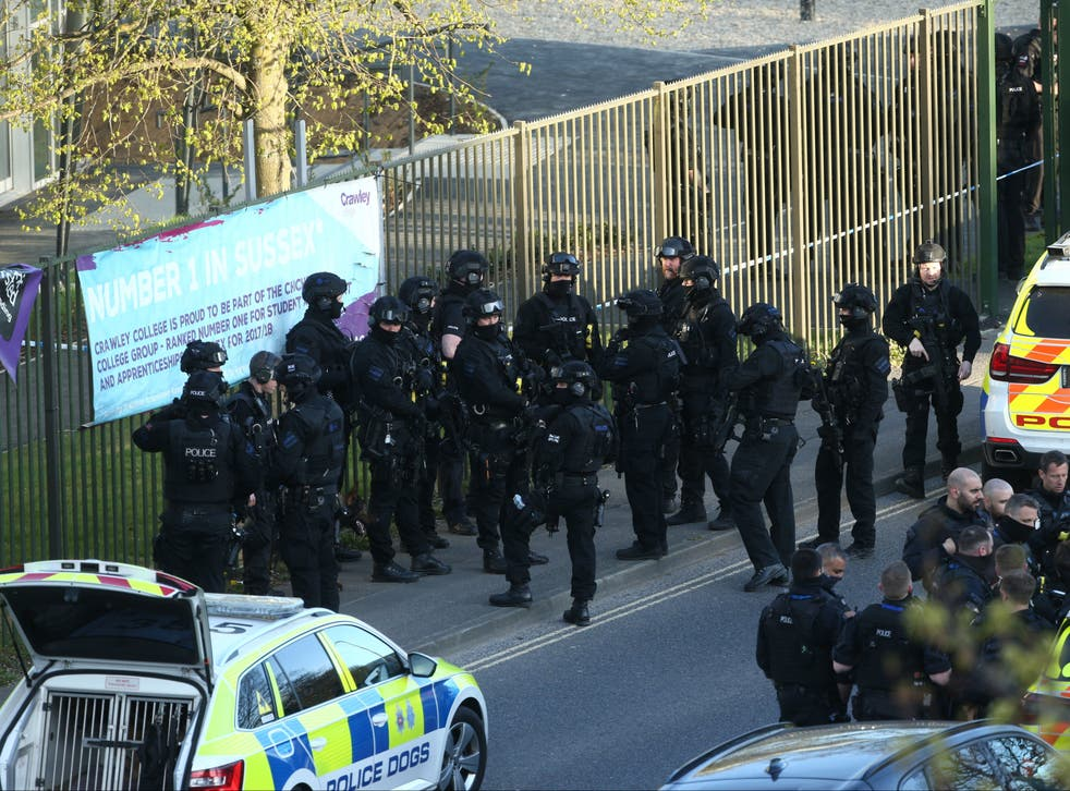 <p>Significant numbers of armed police were called to the scene</p>