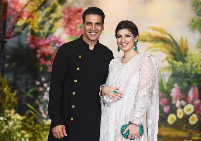 <p>File image: Akshay Kumar and his wife Twinkle Khanna during the wedding reception of actress Sonam Kapoor and Anand Ahuja</p>
