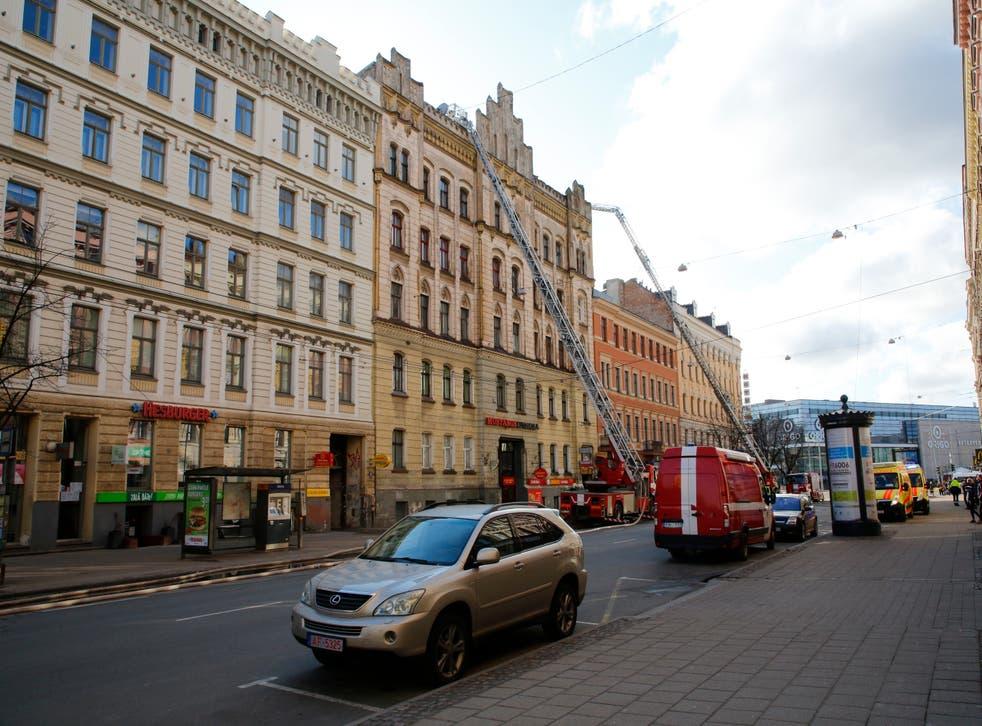 Latvia Building Fire