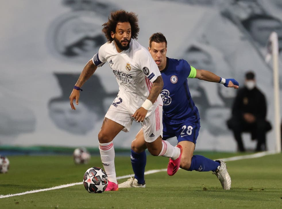 Marcelo captained Real Madrid in the first leg