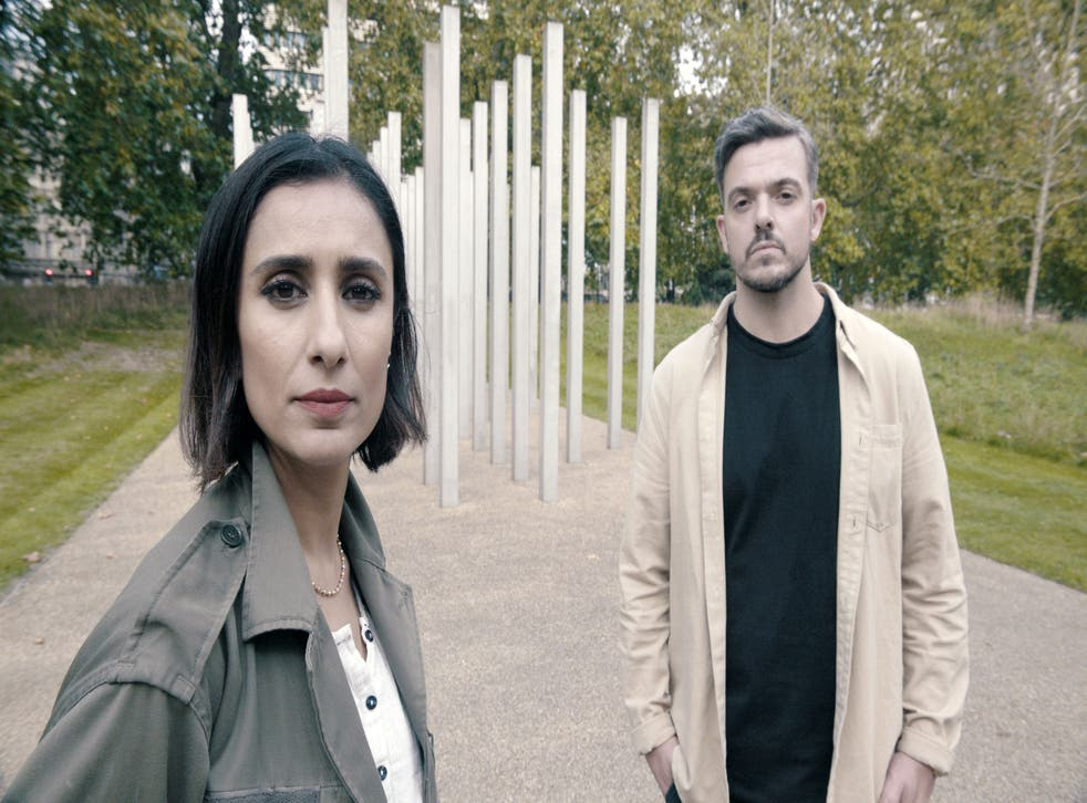 <p>Anita Rani and Karl who search for the mystery woman who comforted him on the tube after the 7/7 bombings in BBC2's 'Saved by a Stranger'</p>