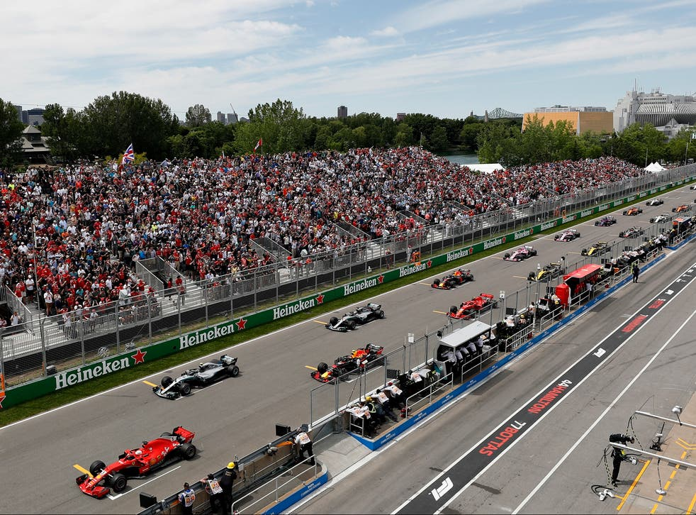 The grid at the 2018 Canadian Grand Prix