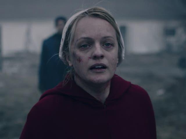 Elisabeth Moss en la cuarta temporada de The Handmaid's Tale