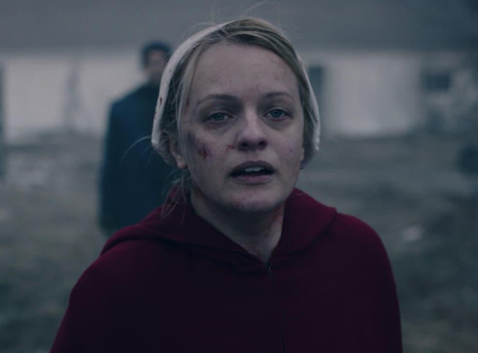 Elisabeth Moss in season four of The Handmaid's Tale