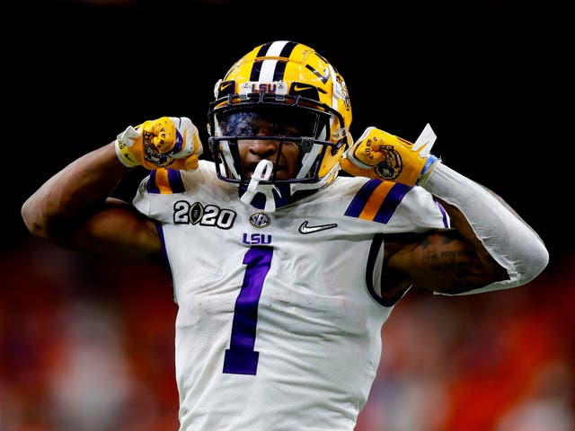 Ja'Marr Chase is coveted by many teams inside the top 10 of this year's NFL Draft