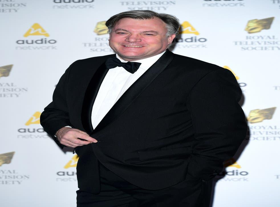Ed Balls attending the Royal Television Society Programme Awards