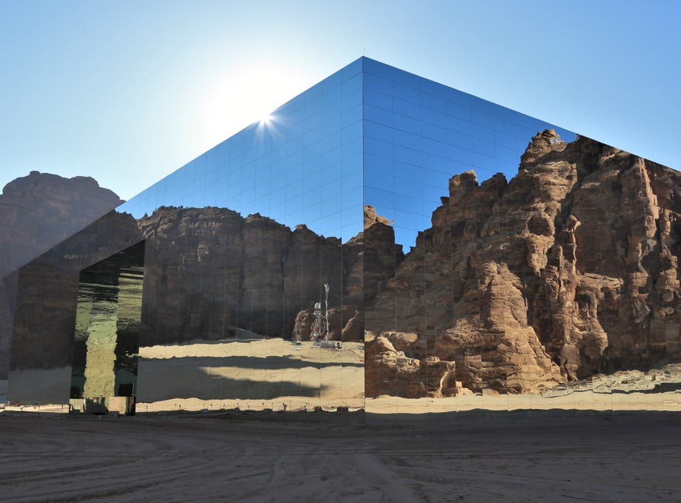 <p>The mirrored Maraya concert hall is one of AlUla's centrepiece venues</p>