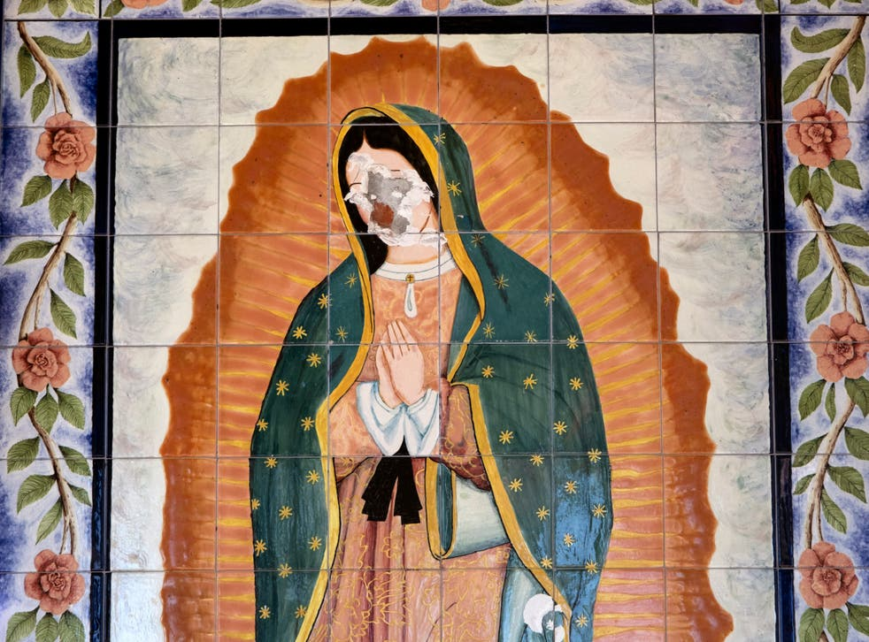 Guadalupe Mural Smashed