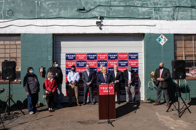 <p>Attorney for the President, Rudy Giuliani speaks to the media at a press conference held in the back parking lot of Four Seasons Total Landscaping on November 7, 2020 in Philadelphia, Pennsylvania. </p>