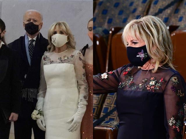 <p>Jill Biden wears same dress she wore at inauguration</p>