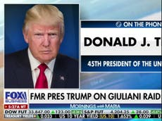Trump lashes out at 'very unfair' FBI raid of 'great patriot' Rudy Giuliani's apartment