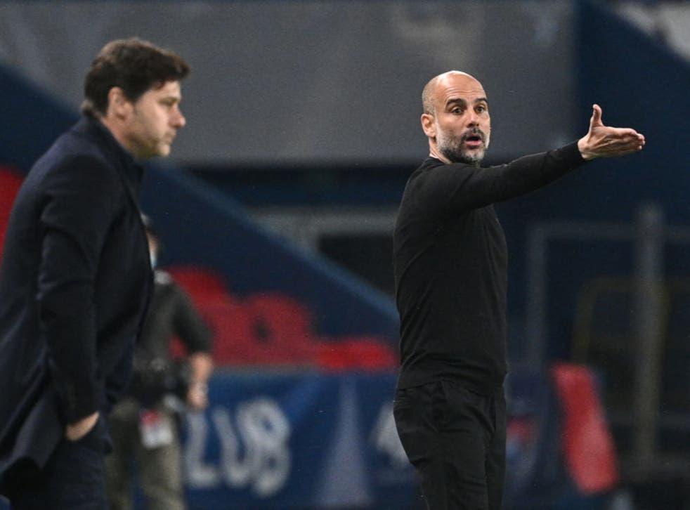<p>Guardiola remains composed despite Man City's first leg victory</p>