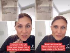 """Mujer estadounidense que vive en Reino Unido comparte el """"espantoso"""" costo de dar a luz en EE.UU.; se hace viral TikTok"""