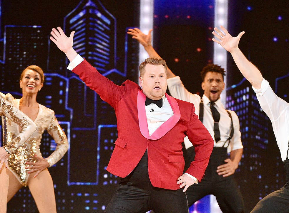 Ludicrousness: James Corden sings and dances while serving as host of the 2019 Tony Awards