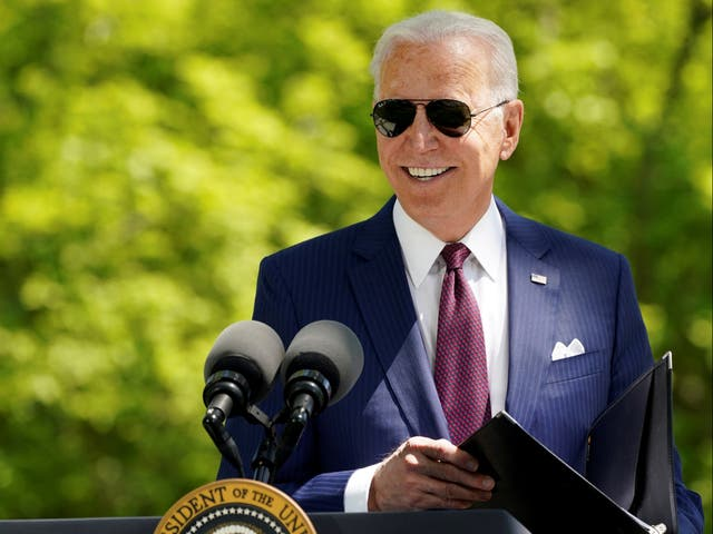 President Joe Biden delivers remarks on the administration's coronavirus response outside the White House