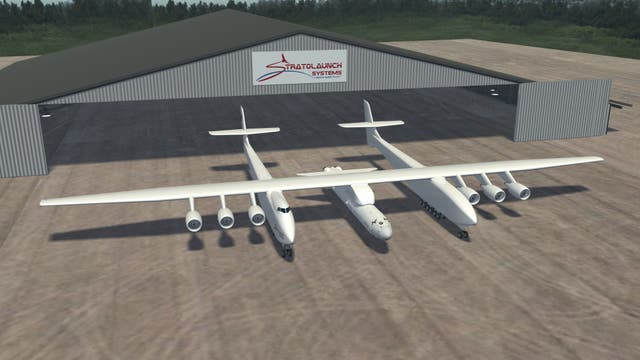 Artist's rendition of world's biggest plane provided by Stratolaunch Systems