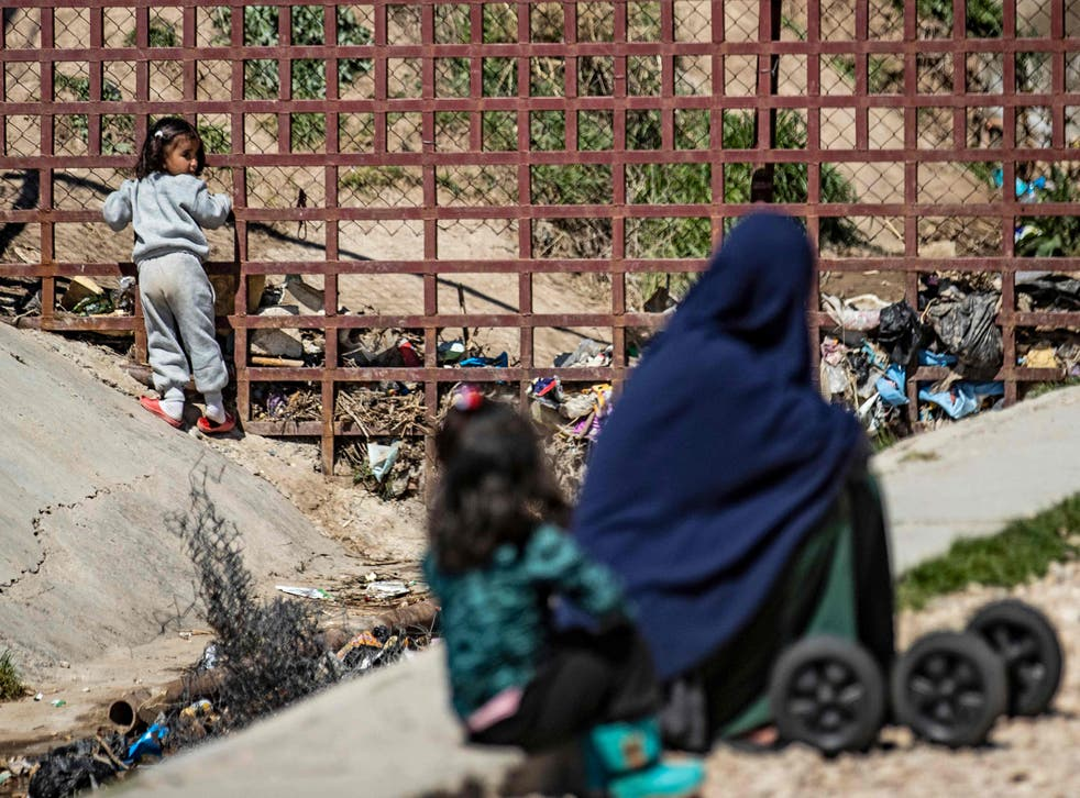 <p>Dozens of women and children are stranded in  refugee camps in northeastern Syria</p>