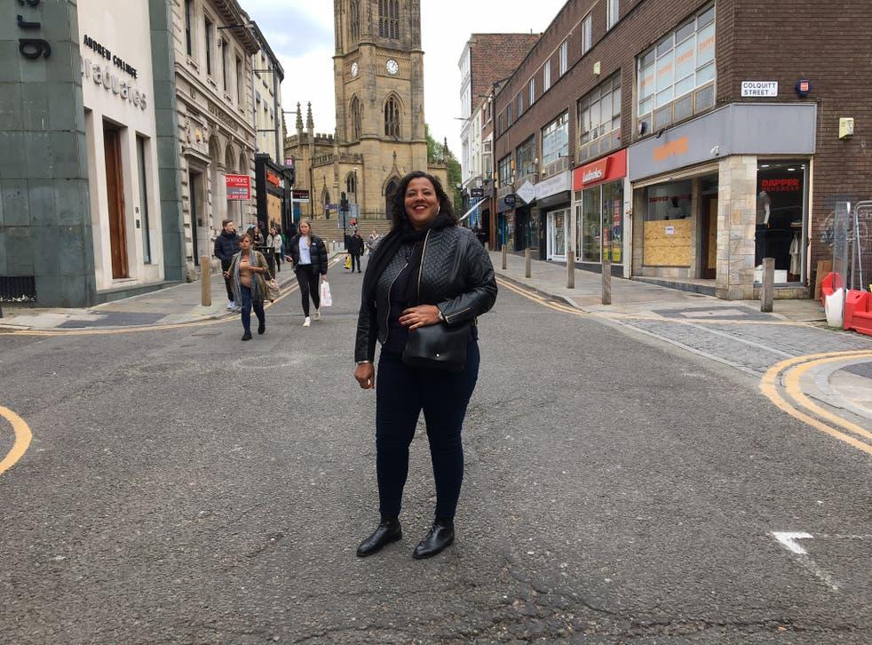 Joanne Anderson in Liverpool's Bold Street