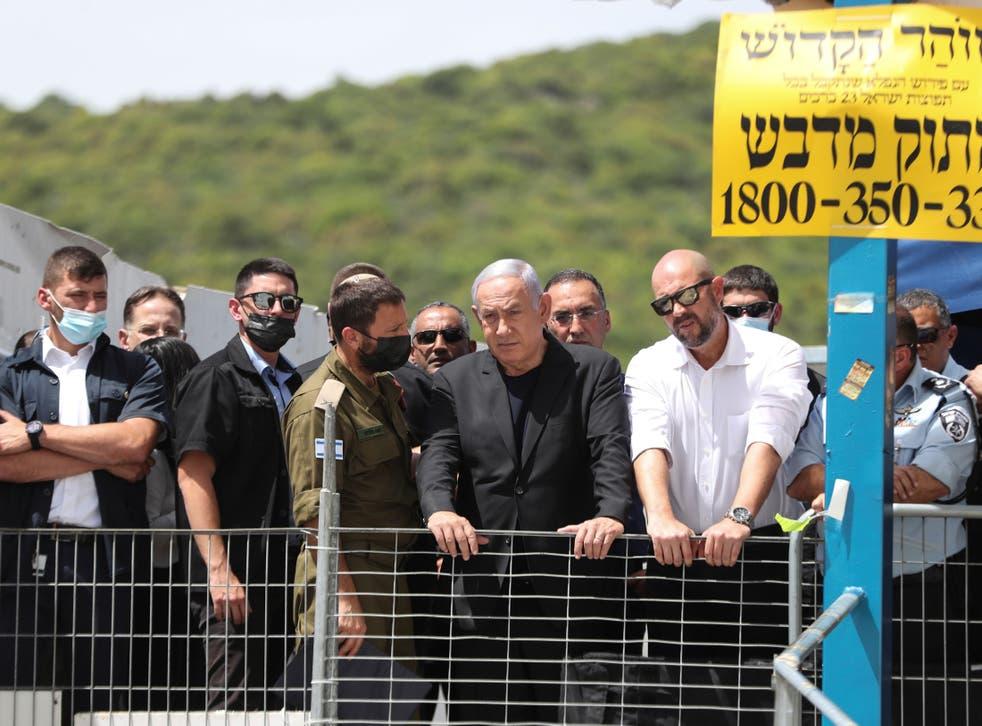Israeli Prime Minister Benjamin Netanyahu visits Mount Meron after stampede