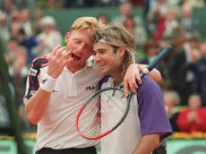 Andre Agassi reveals he looked at Boris Becker's tongue for serve clues in rivals' clashes