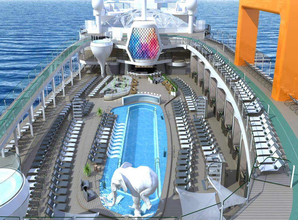 <p>The new resort deck, designed by Kelly Hoppen</p>