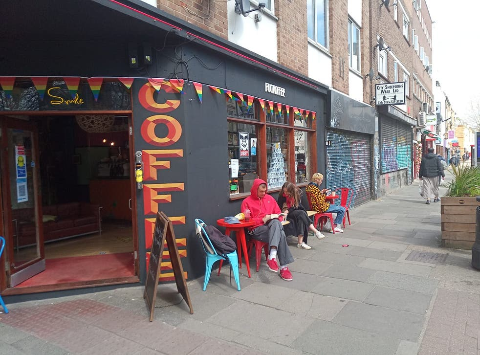 Coffee shop in East London accused of being racist after posting offensive signs