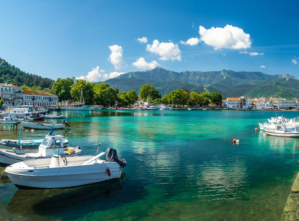 <p>The reader plans to travel to Thassos in the summer</p>